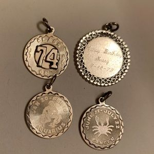 Jewelry - All Sterling silver charms from the 70s